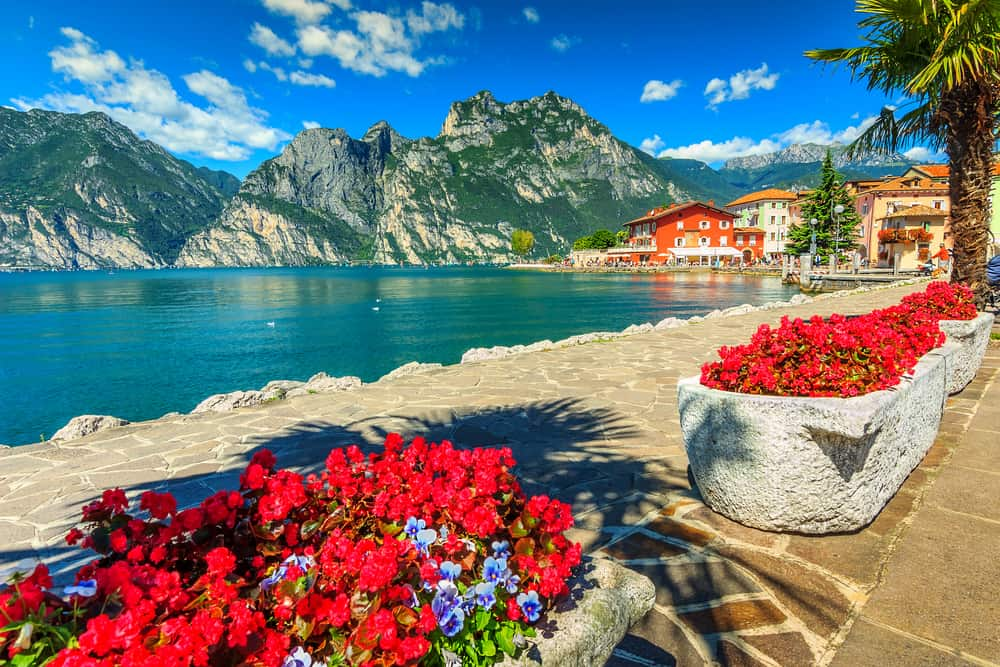 One of the many gorgeous lakes in Italy, Lake Garda