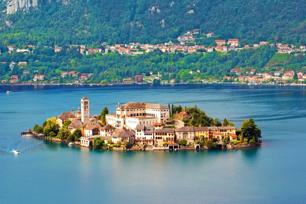One of the lakes in Italy with islands dotting inside it, Lake Orta