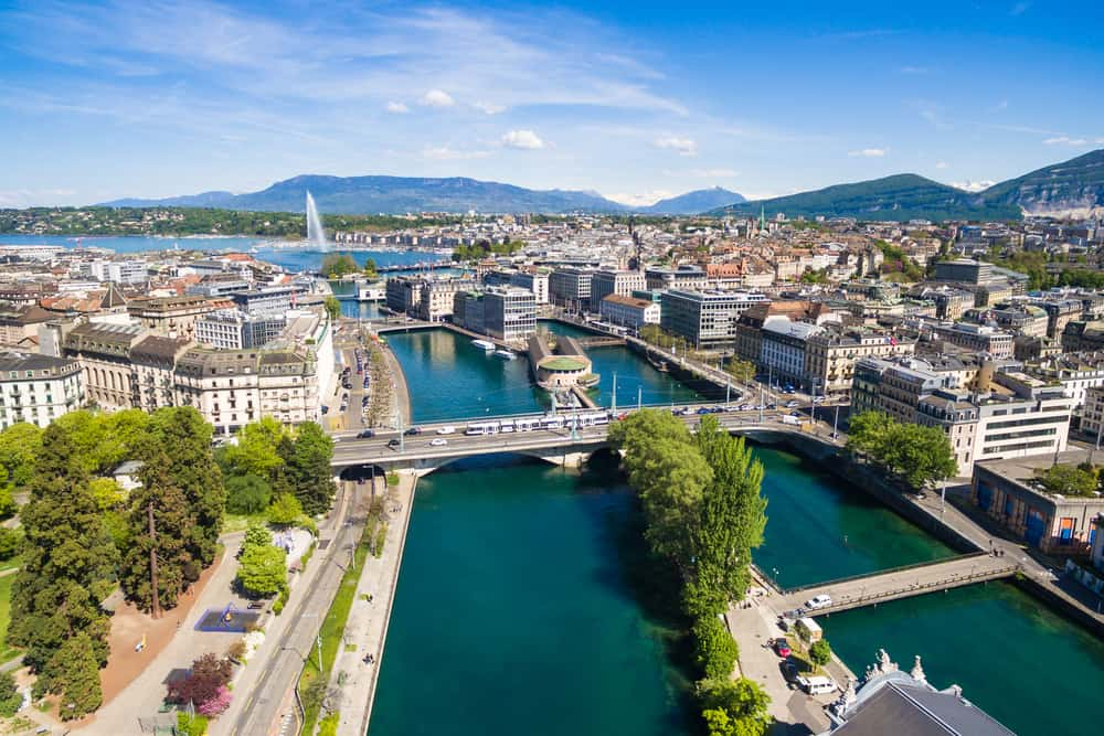 Photo of Geneva, an excellent place to end your Switzerland road trip.