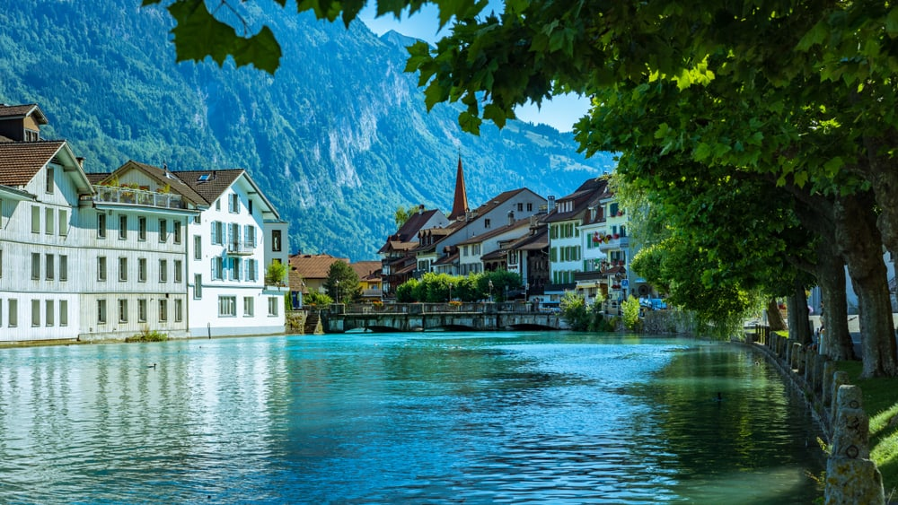 Photo of Interlaken, one of our favorite stops in our Switzerland road trip itinerary