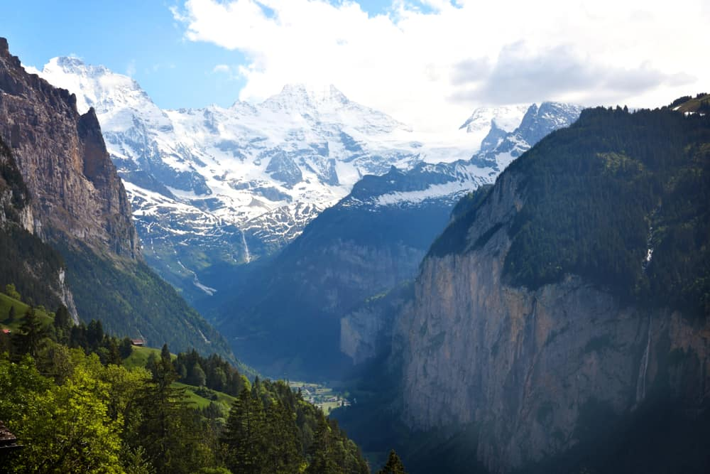 Photo of mountains near Murren