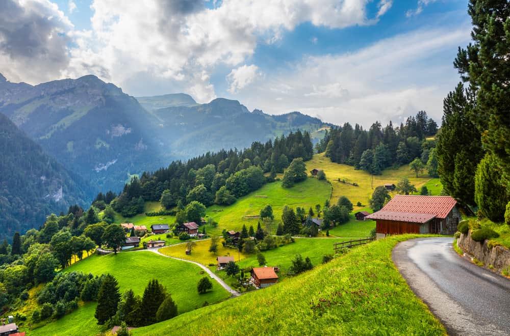 Photo of roads in Switzerland
