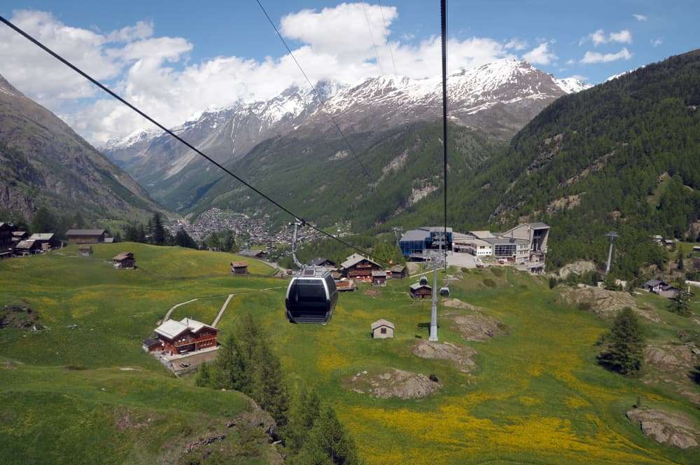 Photo of cable car near Zermatt