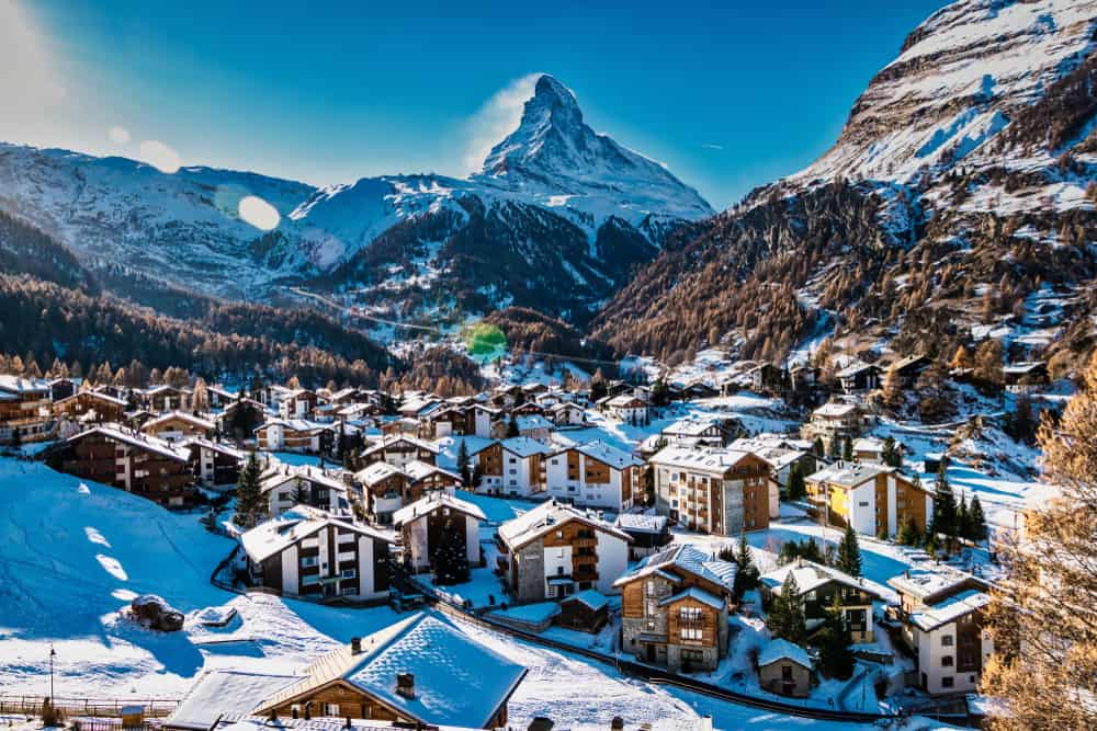 Photo of Zermatt, a great location for outdoor adventures during your Switzerland Road Trip