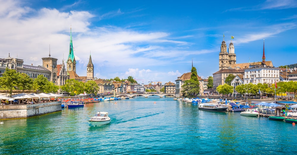 Photo of Zurich, our first stop for your Switzerland road trip itinerary