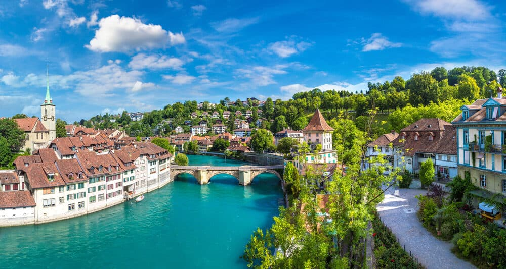 european capitals bern switzerland river view