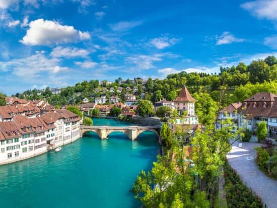european capitals bern switzerland river view