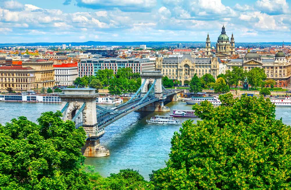 european capitals budapest hungary river view