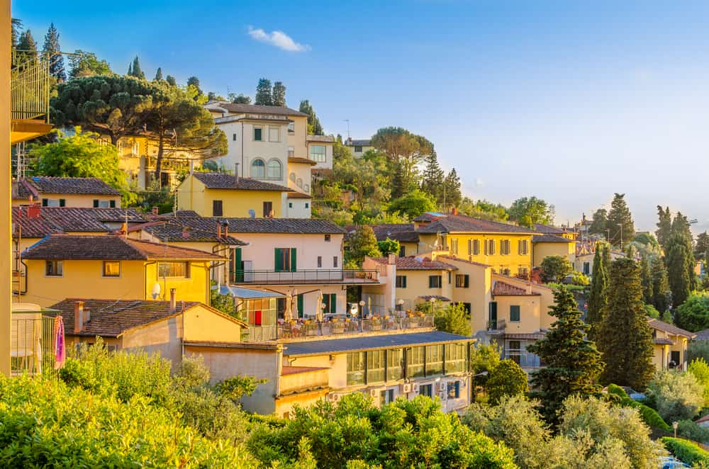 view of Florence from the village Fiesole