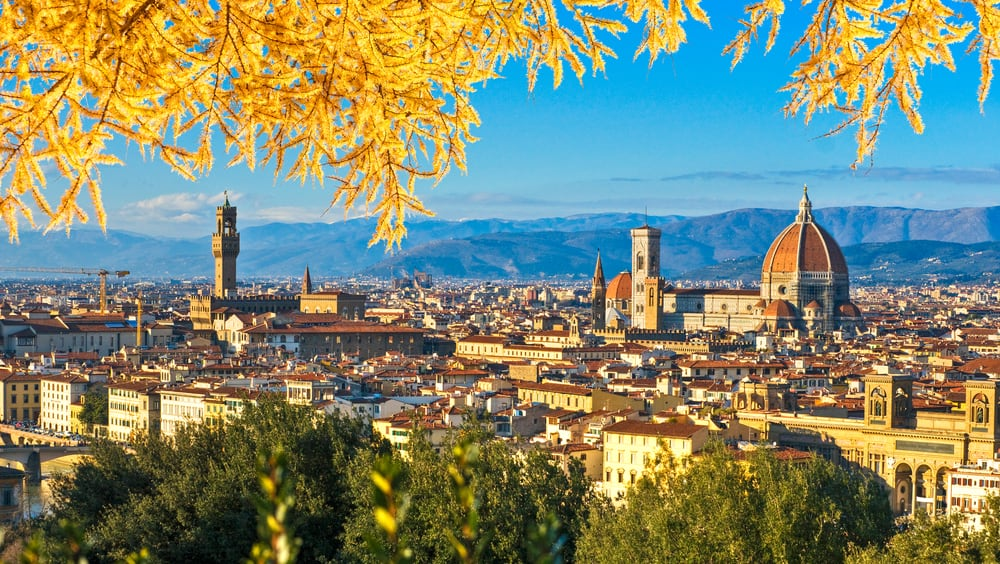 overlooking Florence during spring
