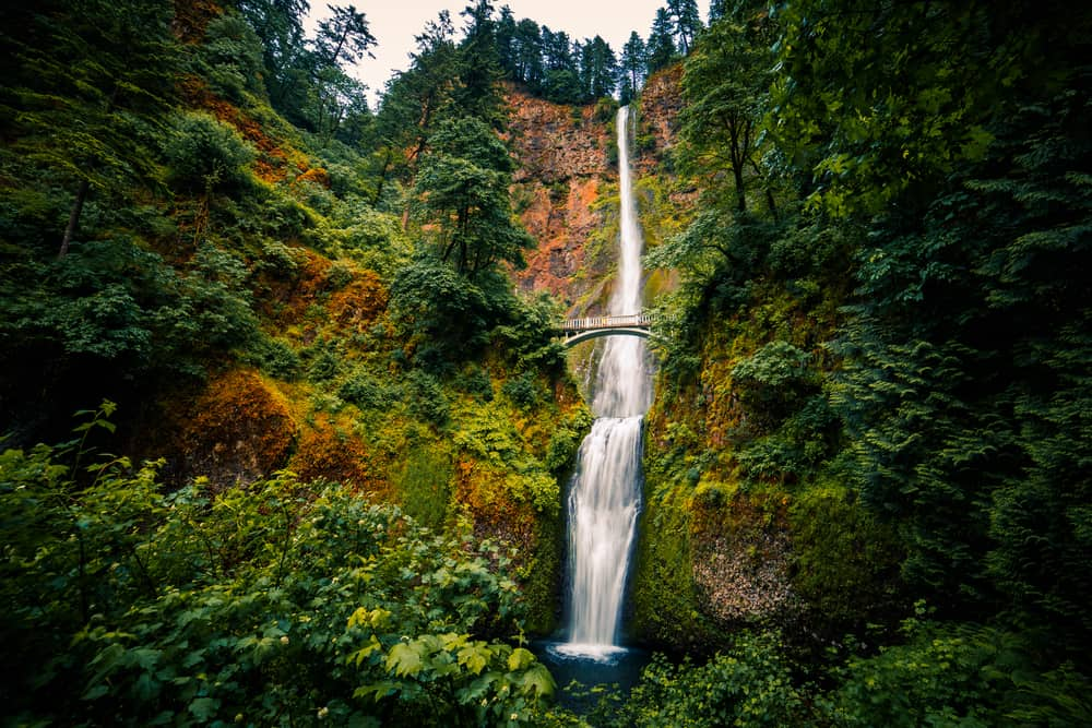 Multnomah Falls is part of the Portland stop on your west coast road trip