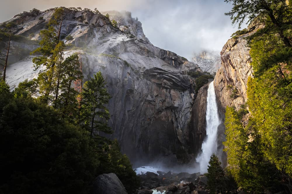 Yosemite Falls in Yosemite National Park on your west coast road trip