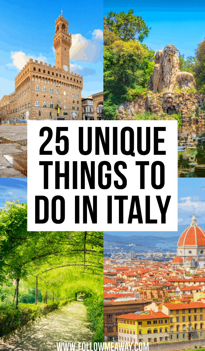25 unique things to do in italy
