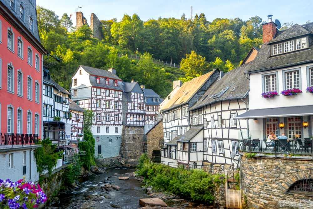 See the timbered houses in Monschau that small towns in Germany are known for