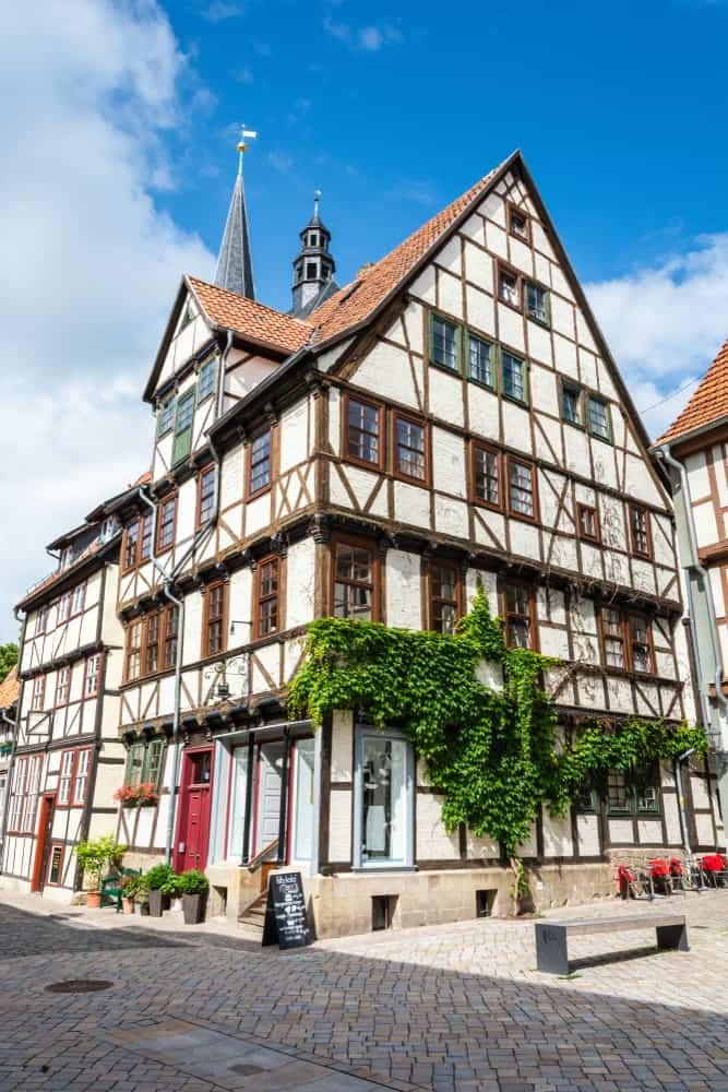 Quedlinburg is home to some of the half-timbered houses that make small towns in Germany famous