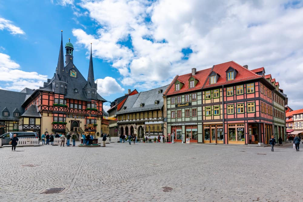 View the famous town hall in Wernigerode