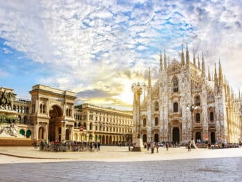 A stunning view of the Milan Cathedral. You have to add this to your itinerary of where to stay in Milan