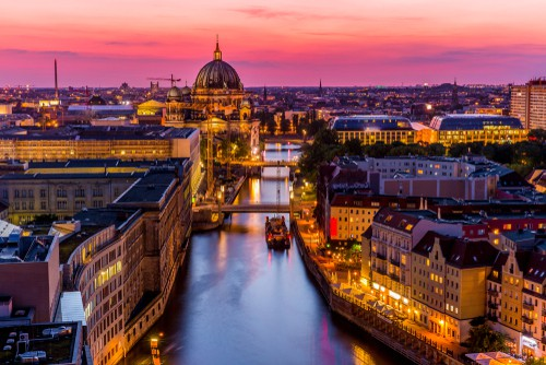 the Berlin skyline on your Germany road trip
