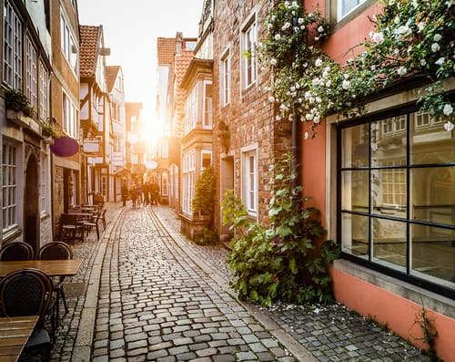 the Schnoor Quarter in Bremen on your Germany road trip