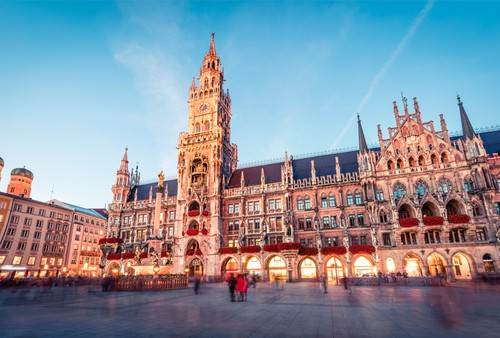 Munich's Marienplatz on your Germany road trip