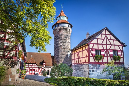the Nuremberg Castle on your Germany road trip