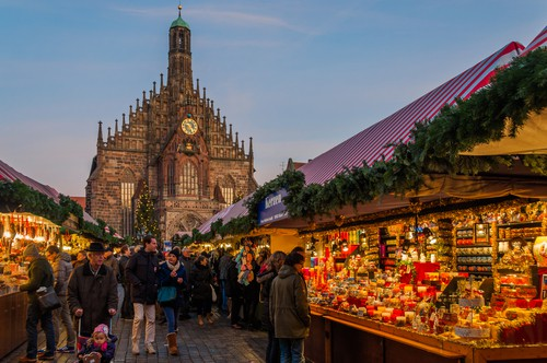 the famous Nuremberg Christmas Market on your Germany road trip