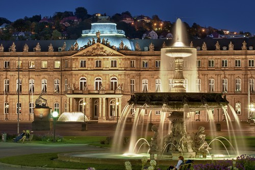 the Neues Schloss in Stuttgart on your Germany road trip