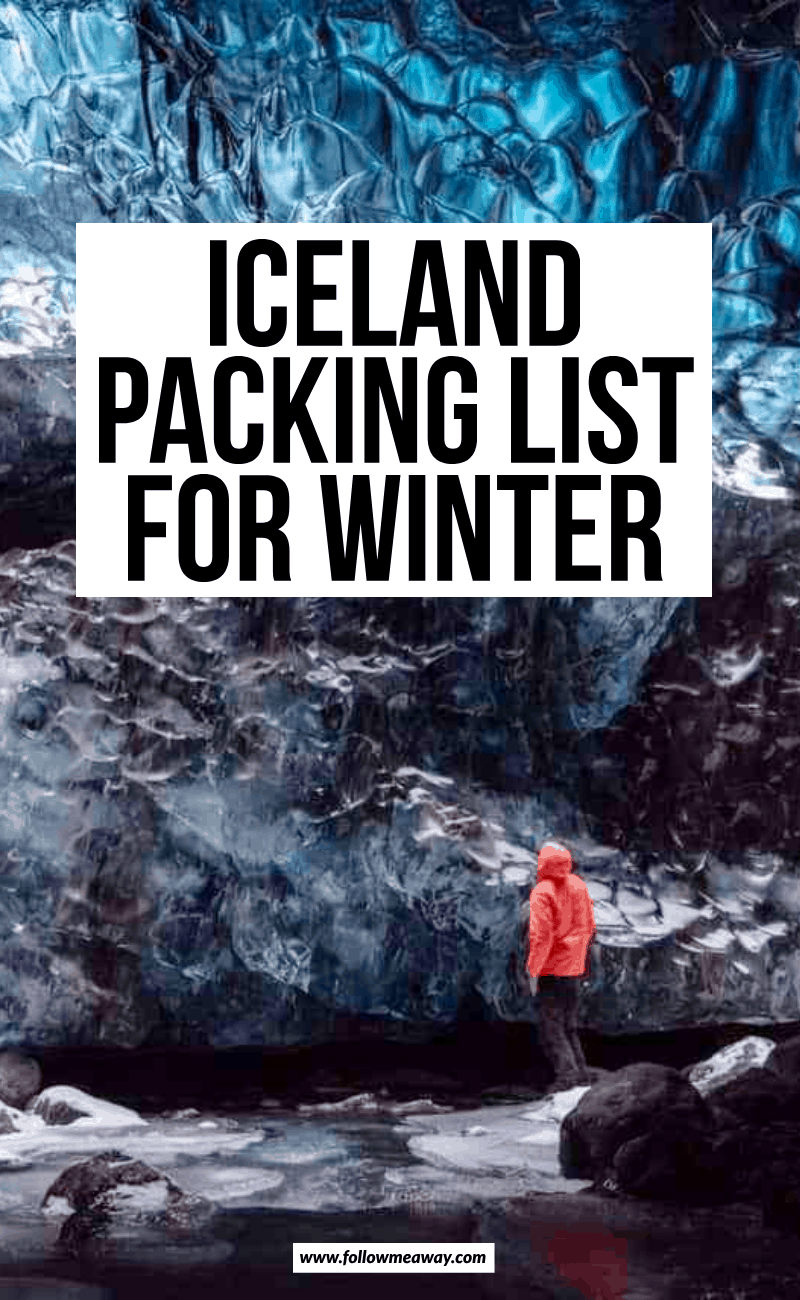 iceland packing list for winter