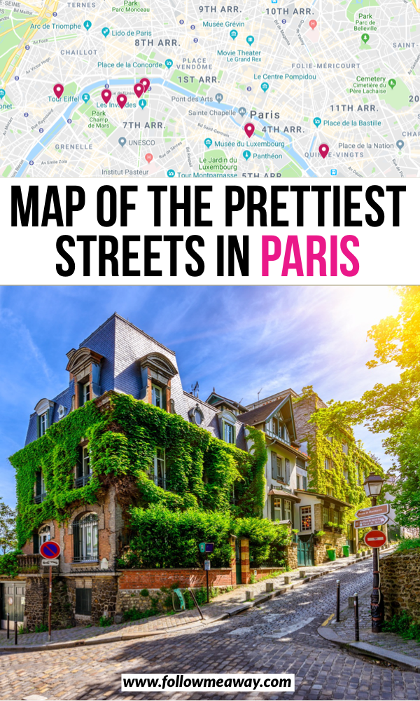 Map Of The Prettiest Streets In Paris | how to travel in paris | 10 prettiest streets in paris | paris bucket list locations | traveling in paris like a pro | paris guide for adventure | bucket list locations for paris | where to get the best travel photos in paris | instagram spots in paris | Cutest streets in paris | best Paris photo locations | best paris streets | best things to do in Paris | hidden gems in Paris #paris #instagramspots