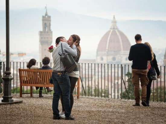 Photo of couple in Florence.