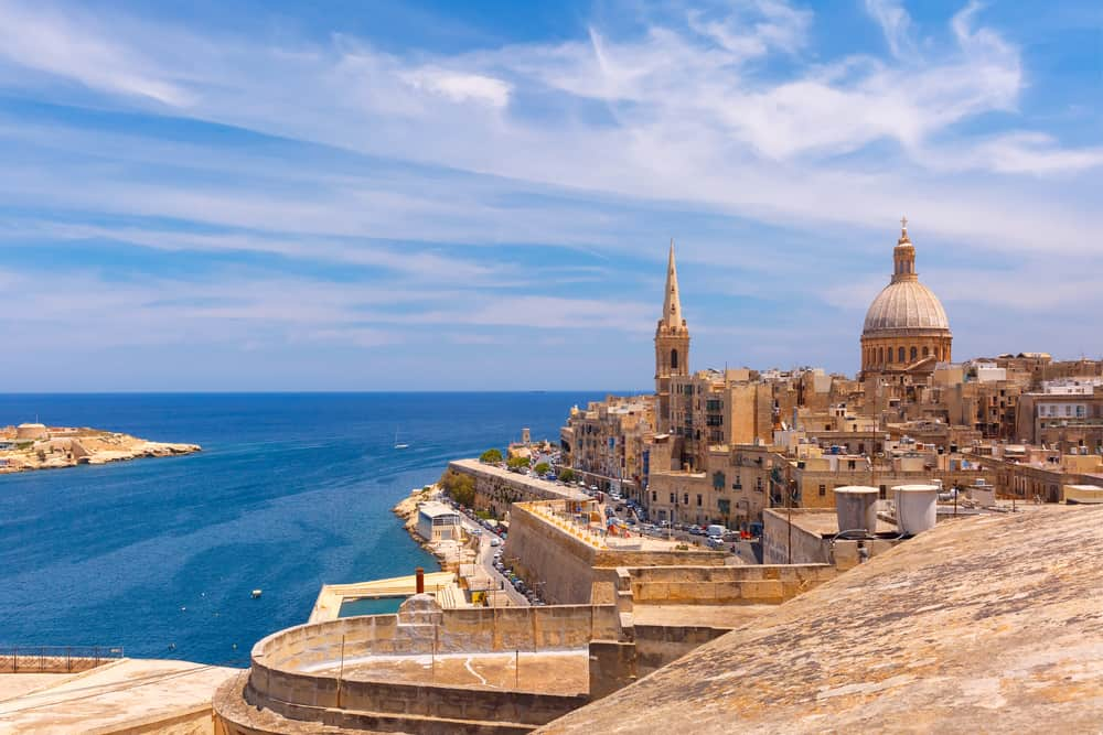 Valetta is the capital of Malta and a where to stay in Malta for history