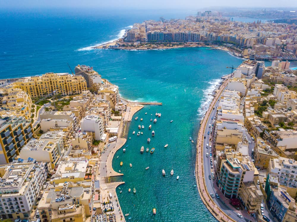 where to stay in Malta for nightlife is Saint Julian's Bay