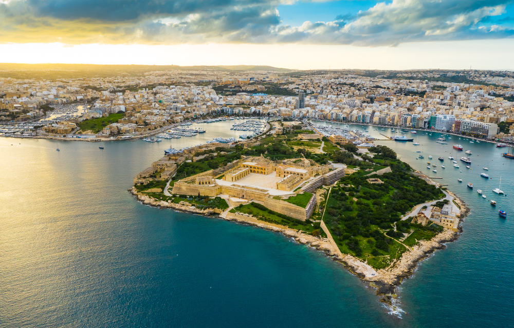 where to stay in Malta for quiet beauty is Gzira