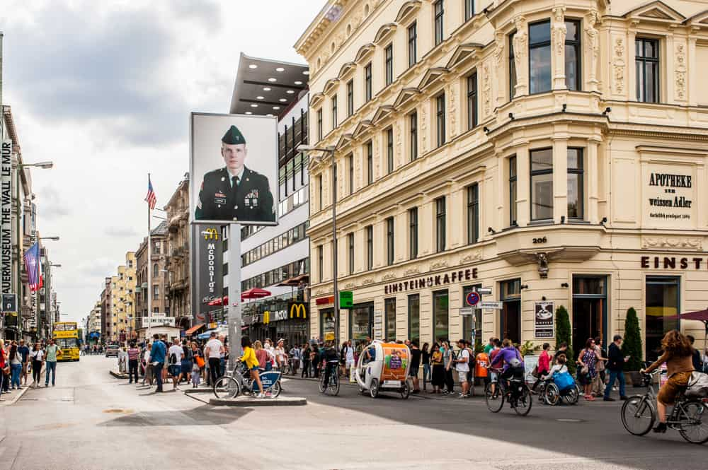 Checkpoint Charlie during your 3 days in Berlin