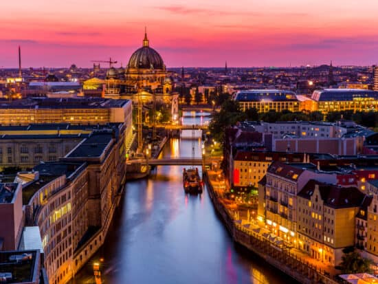 the Berlin skyline during your 3 days in Berlin