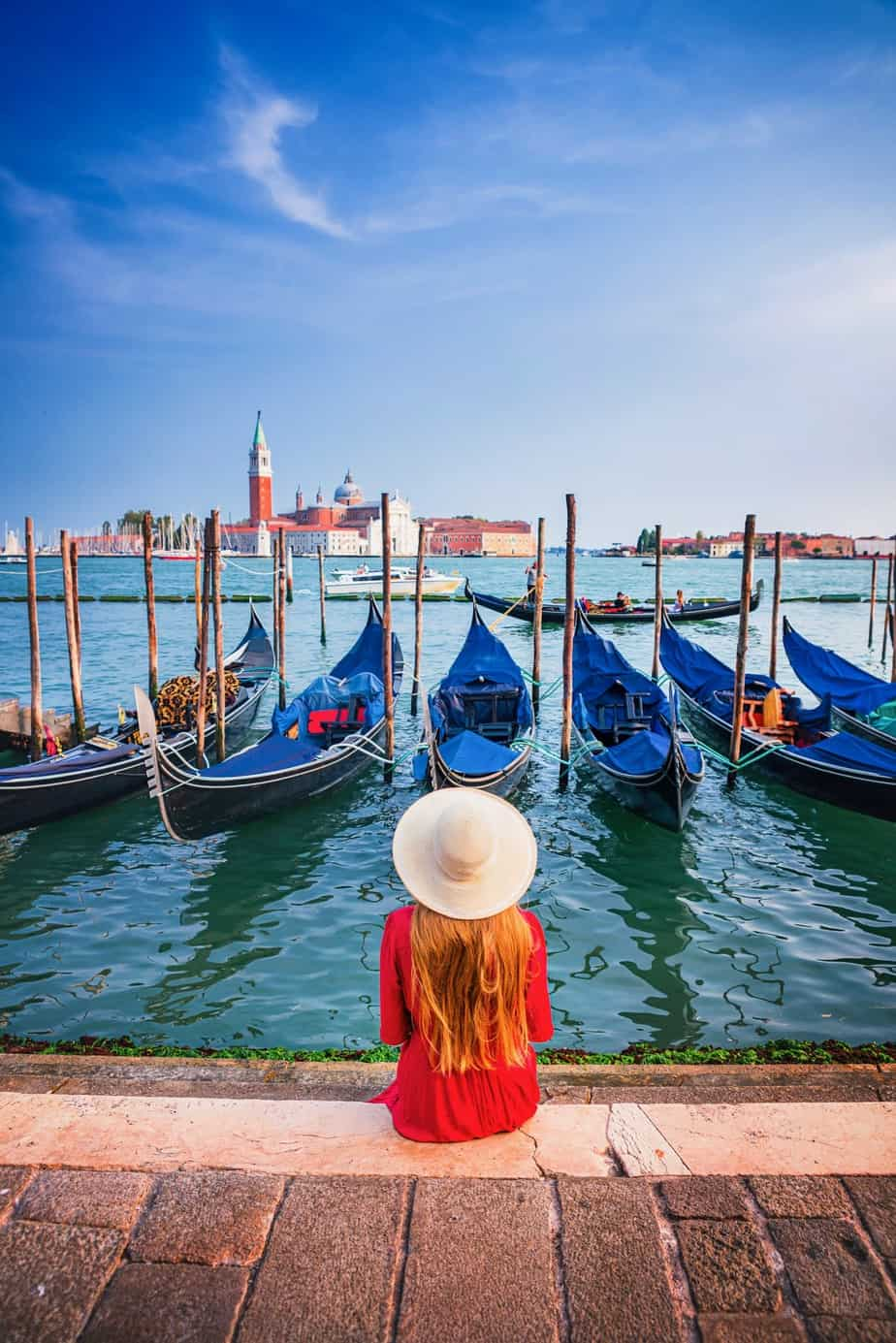 San Marco Waterfront is one of the most Instagrammable Places In Venice Italy | Gondolas in Italy | best photo spots in Italy | where to take Instagram photos in Venice | Venice gondolas Instagram spots