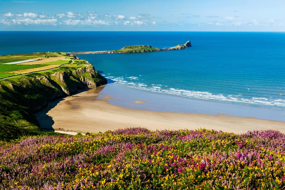 Relax at Gower Peninsula on your UK road trip