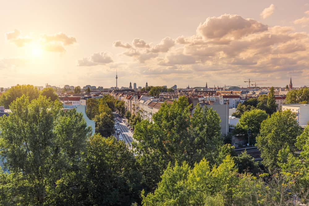 Friedrichshain is great for nature walks and cuisine options!