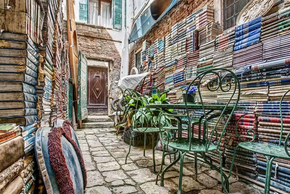 Libreria Acqua Alta books in Venice Italy