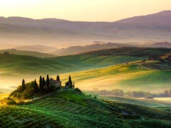 Photo of beautiful Tuscany countryside.
