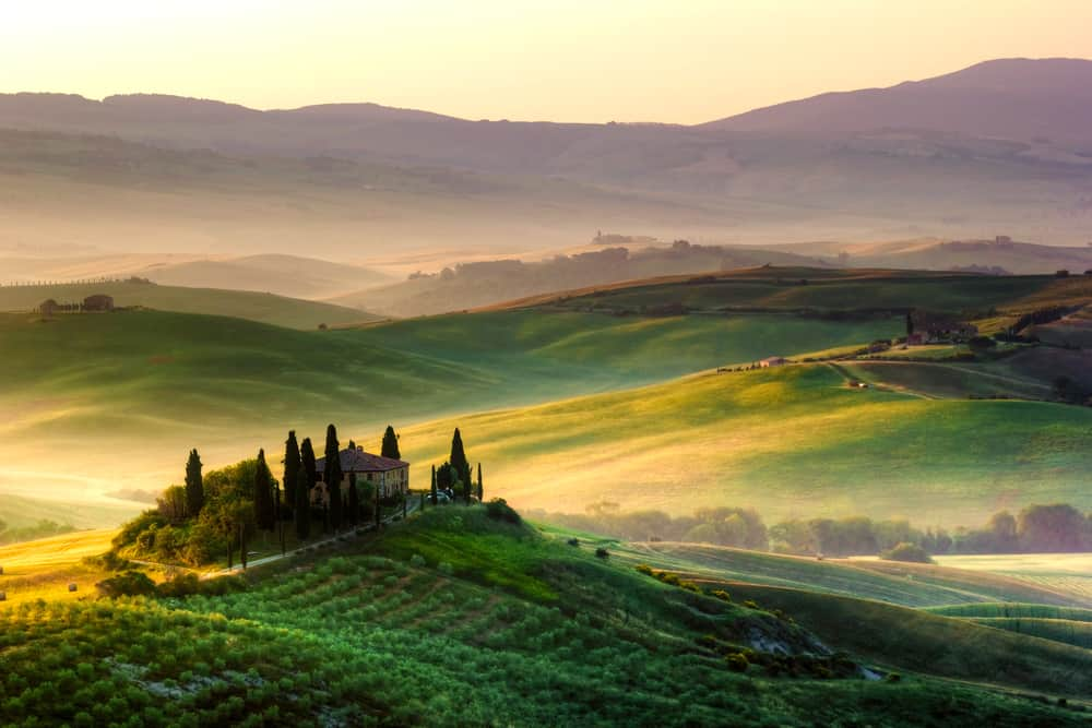 Photo of beautiful Tuscany countryside.