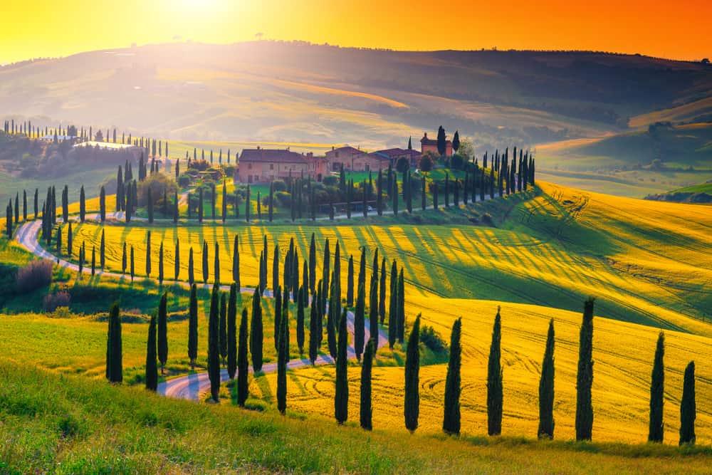 Photo of countryside near Asciano.