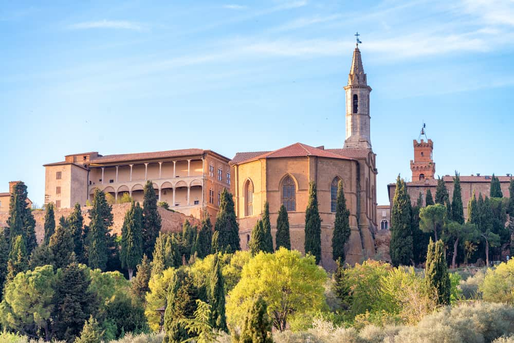 Photo of Pienza, a wonderful city when considering where to stay in Tuscany.