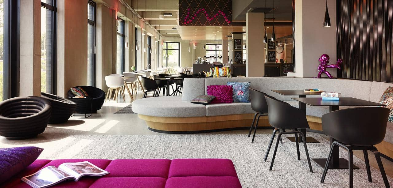 The MOXY is a modern hotel in Friedrichshain