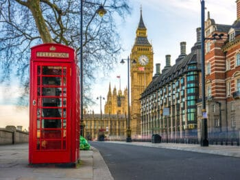 Big Ben and red telephone booths are classic markers of London!
