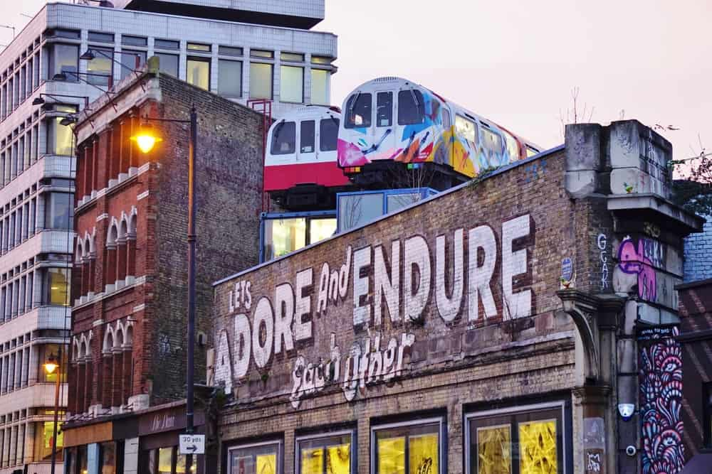 Shoreditch is known for it's art and grungy vibe!