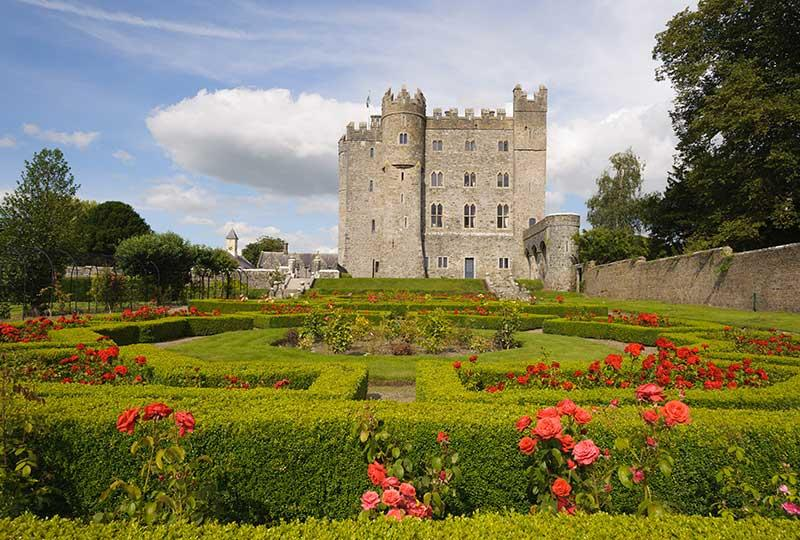 Photo of Kilkea Castle, a great place to stay during your Ireland honeymoon.