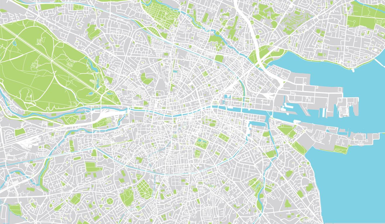 A map of Dublin