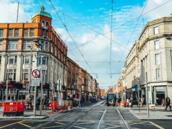 O'Connell Street has many beautiful buildings and statues