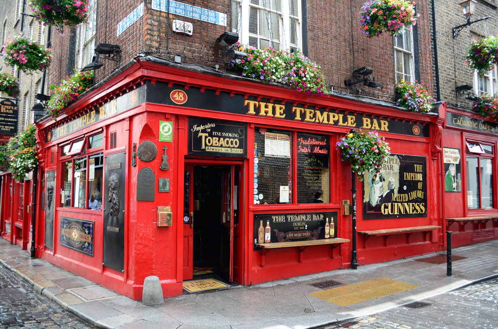 Temple Bar has the best nightlife in Dublin